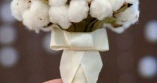 Baiciurina Olga's Design Room: Букет из хлопка-Cotton wedding b...