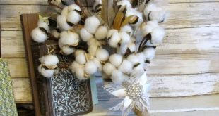 Cotton & Feather Wedding Bouquet with Bling, Cotton Burlap and Lace Bouquet, Far...
