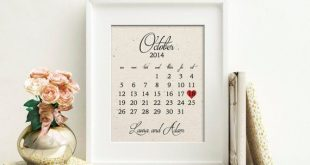 Wedding Calendar | Cotton Wedding Anniversary Gift | 2 Year, 2nd Anniversary Gift | ANY Anniversary Gift | 2nd Anniversary Husband Wife