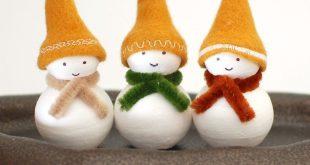 DIY Christmas decorations: homemade snowman ornaments