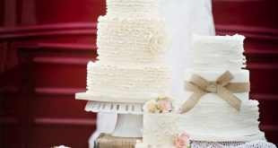 Rustic wedding cakes, a vintage pick-up, and a cotton bouquet.....LOVE LOVE