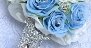 Cinderella Brooch Bouquet by couturekeepsakes.... use purple flowers