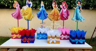 Princess Ariel Belle Jasmine Snow White Cinderella Sleeping Beauty birthday handcrafted wood centerpieces birthday themed event SET OF 6