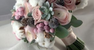 I love the cotton in the bouquet. Adds a touch of softness. 2019 I love the co ...