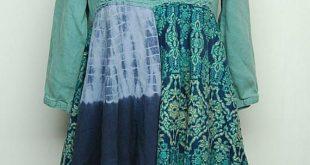Upcycled Tunic, Boho Chic Long Tunic, Long Hippie Top, Funky Artsy Handmade Upcycled Clothing by Primitive Fringe
