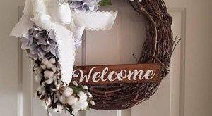 Cotton Wreath, Burlap Wreath, Hydrangea Wreath, Burlap Cotton Wreath, Spring Wreath, Easter Wreath, Farmhouse Wreath, Everyday Wreath