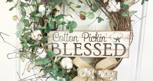 Cotton Pickin Blessed Wreath, Cotton Wreath, Cotton Boll, Rustic Wreath, Farmhouse Cotton Wreath, Burlap Wreath, Everyday Wreath, Farmhouse