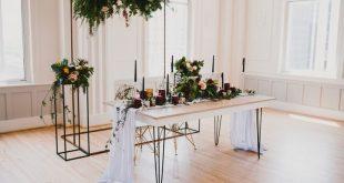 Dusty Blue Table Runner, Rustic Wedding Decor, Silver Table Decor, Dyed Table Runner, Gauze Table Runner, Modern Wedding Decor