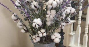 Farmhouse Large Arrangement, French Country Floral, Farmhouse Cotton Lavender, Large Floor Arrangement, Cotton Lavender Arrangement