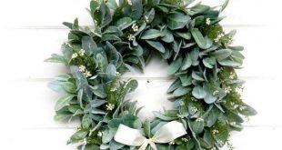 Farmhouse Wreath-Lambs Ear Wreath-Wreath-Fixer Upper Decor-Farmhouse Decor-Housewarming Gift-Greenery Wreath-Wreaths-Home Decor
