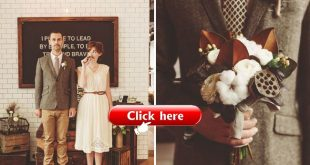Movember Elopement Love the idea of cotton white ranunculus and magnolia leaves...