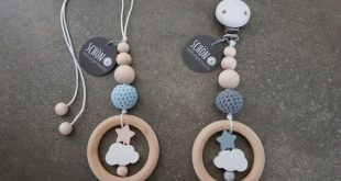 Stroller chain crochet, baby gym, Maxi Cosi pendant, game bow, wood gripping, cloud, star, beautiful and homemade, Schoenselbstgemac