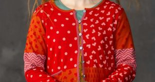 """Victoria"" scrap yarn cardigan in organic cotton"