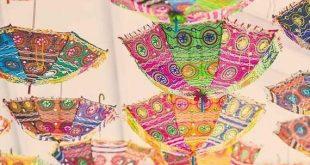 Wholesale lot 25 pcs Vintage Handmade Embroidered Patchwork Umbrella Parasol Indian Wedding Decorati