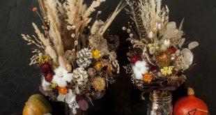 Woodland Bridesmaids bouquet Dried flowers bouquet Dried flowers Rustic Bridal bouquet Farmhouse we
