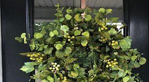 Wreath for Front Door, Green Ivy Wreath, Farmhouse Wreaths, Year Round Wreaths, Outdoor Wreaths, Front Door Wreath, Country Style Wreaths