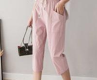 Cotton Women's Pants New Summer High Waist Casual Pants