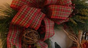 Farmhouse wreath, Gallery Wall Decor, Rustic Decor, Wreath in frame, Cottage wreath, Eucalyptus Wreath, Cotton Wreath