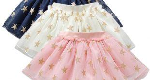 3 Colors Summer Baby Girls Tutu Skirts Star Print Mesh Princess Girls Ballet Dancing Skirt Cotton Clothing