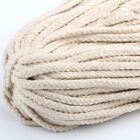 5mm Macrame Rustic 100m Rope Colorful Cotton Twisted Cord String DIY Hand Craft ...