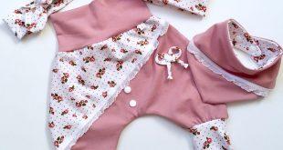 Baby Set Girl set 4-tlg. Altrosa/white