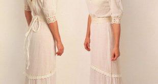 Boho wedding dress rustic wedding dress bohemian wedding dress V-neck backless d...