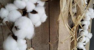Cotton Boll wreath, Cotton decor, Farmhouse decor, Cotton swag, home decor, fixer upper, Farm decor, Cotton boll
