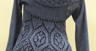 Damen Strickjacke, von Hand gestrickt, gehäkelt, mit Kapuze Strickjacke, Baumwolle Strickjacke, blaue Strickjacke, Strickwaren für Frauen, Damen Bluse