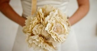 Fabric Bridal Bouquet Wedding Vintage by AutumnandGraceBridal with some color ...