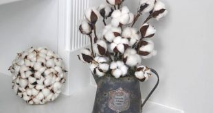 Farmhouse Decor Cotton ArrangementSmall Centerpiece Rustic