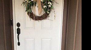Front door wreath, peonies, summer wreath, spring wreath, Greenery Wreath, Wreath All Year Round, Everyday Burlap Wreath, Door Wreath