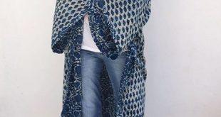 Indigo supersize Kimono soon online #malaikacotton #robe #kenya #homewear #inter...