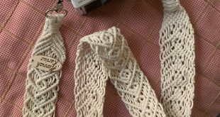 Macrame off white cotton rope bag, Drawstring bucket purse, Woven white ivory cylinder wicker...