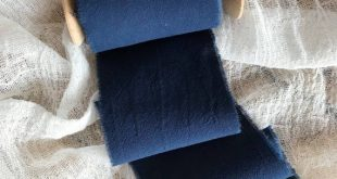 Navy Blue ribbon 3 Hand dyed ribbon Navy Cotton ribbon bridal bouquet Wedding ri...