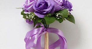 Nice Satin / Cotton Rose Round Shape Wedding Bridal Bouquet USD $ 14.54 2019 ...