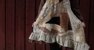 Shabby Chic / Bohemian / Gypsy / Romantic Tunic Dress made of Vintage Crochet, Lace, and Cotton Materials / Can be Altered / Size M-L-XL