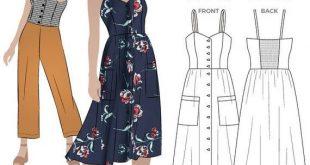 Style Arc Sewing Pattern - Ariana Woven Dress - Sizes 4, 6, 8 - Women's PDF Sewing Pattern