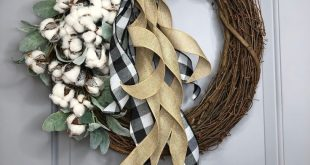 The cotton wreath, farmhouse cotton wreath exclusive by Wreathangelting 2019, farmhouse decor, spring wreath,southern wreath,country living