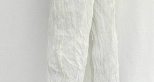 White & Denim - White crumpled pants with recycled jeans, sarouel, eco fashion, ecological fashion, thrift store recycling, upcycling