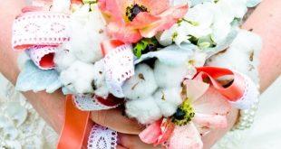 soft coral & cotton bouquet 2019 soft coral & cotton bouquet The post soft co 2...